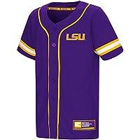 "LSU Tigers NCAA ""Play Ball"" Youth Jeunes Button Up Baseball Jersey Maillot"