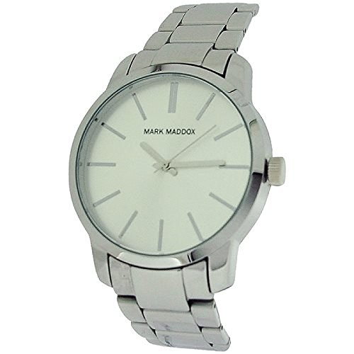 Mark Maddox Gents Silvertone Dial, Case & Bracelet Strap Watch HM0005-17