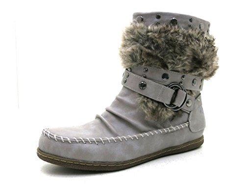 Mustang-bottines-chaussures pour femme Gris - Gris clair