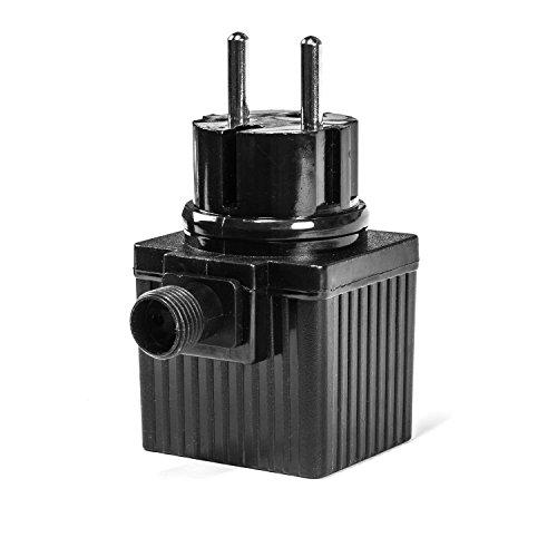 CLGarden 12V AC IP44 Transformator Netzteil 1000mA 12VA 12 Watt Trafo für Springbrunnen Pumpen LED Beleuchtung 2 Pin Stecksysteme -