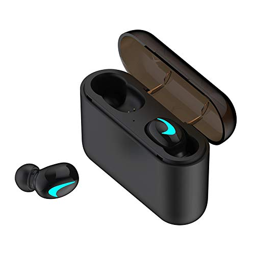 KNOSSOS Hbq-Q32 V5.0 Invisible Bluetooth Headphone Headset Wireless Earphone Earbuds for Nike - Black