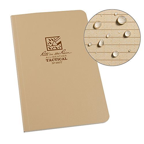 modello universale 7,6/x 12,7/cm Rite in the Rain all-weather top-spiral notebook 3/pezzi Motivo pagine Universale 3 x 5 Tan