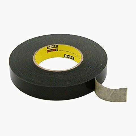 3M Scotch 226disolvente resistente cinta de enmascarar, 250grados F Temperatura de rendimiento, 33libras/en Fuerza de tensión 1en. X 60Yds. Negro