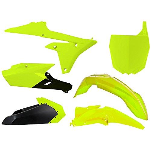 RaceTech Plastik Kit NEON gelb passend für Yamaha YZF 250 / 450 Baujahr 2014 - 2016
