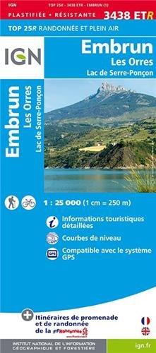 Embrun / Les Orres / Lac de Serre-Ponçon gps wp (Ign Map) par IGN Institut Géographique National