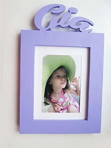 Portafoto per bambini, cornice in legno per foto, o ragazza nome personalizzato regalo di compleanno, battesimo, la forma, baby Name, mia officina - Ragazze Personalizzato Photo