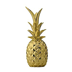 Bloomingville Piña decorativa dorada