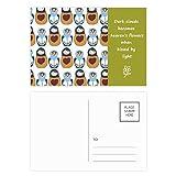 DIYthinker Russland Puppen-Plakat Matroschka Land Kultur Poetry Postkartenset dankt Karte Mailing Side 20pcs 5.7 Zoll x 3.8 Zoll Mehrfarbig