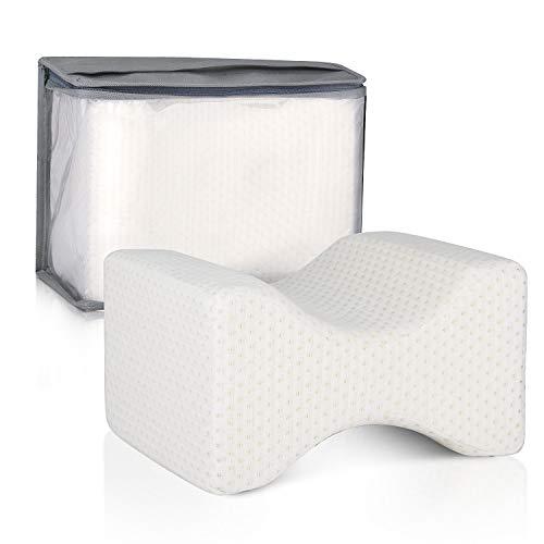 Getone kniekissen für seitenschläfer, beinkissen zum schlafen Memory Foam Knee Pillow, Beinlagerungskissen Knie Kissen für hüfte Beine, Ergonomische orthopädisches stützkissen Fuer seitenschlaefer