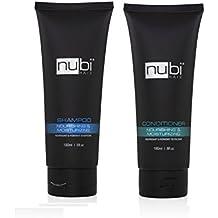 Nubi Hair Hidratante champú y acondicionador 2 en 1 Combo Set, 180 Ml/6