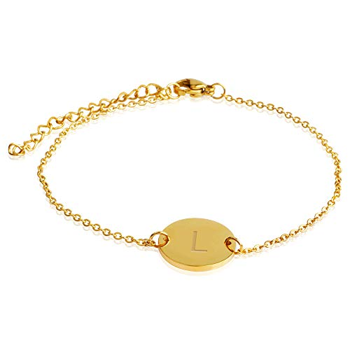 GD GOOD.designs EST. 2015 Pulsera señora Letras Oro