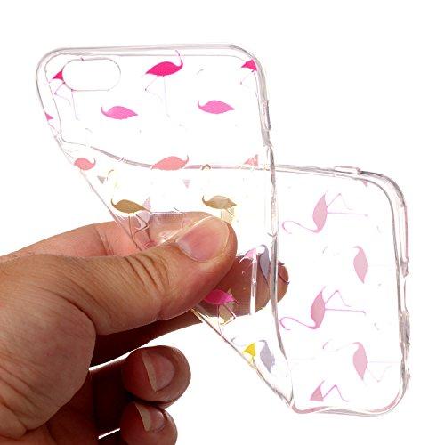 iPhone 6 6S Hülle,iPhone 6 6S Case [Scratch-Resistant] , Cozy Hut ® Ananas Design Niedliche Cartoon Malerei Silikon Hülle / Schutzhülle / Cover für iPhone 6 6S (4,7 Zoll), TPU Clear Transparent Protec Flamingo