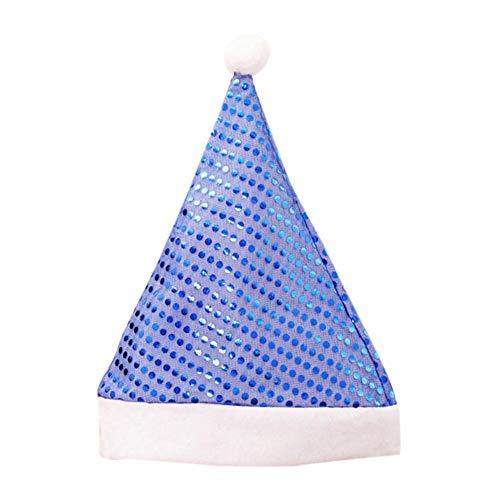 Autotipps - cappello natalizio con paillettes e cappelli di natale, blu
