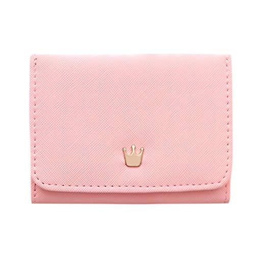 Quaan Frauen Geldbörsen Krone Dekoriert Mini Geldbörsen Kleine Geldbörse Kartenhalter Tasche