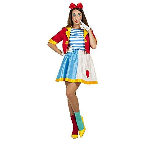 Imagen de disfraz de payasa de circo para mujer