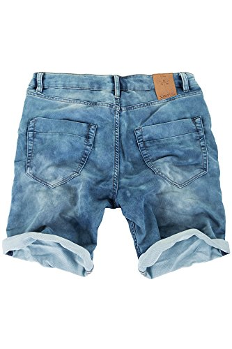 Sublevel Jogg Jeans Shorts Herren Kurze Hose Denim Sommer Jogger Bermuda Chino (Blau, W34) - 2