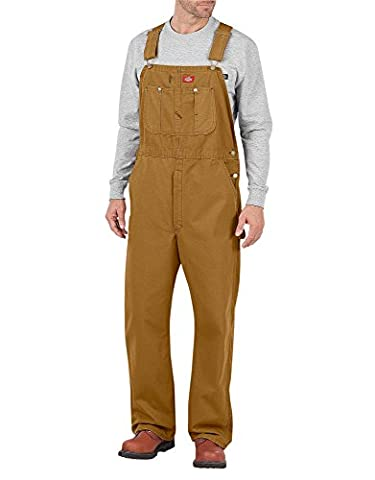 Dickies Men's Bib Workwear Overalls, Brown (Brown Duck), 30S