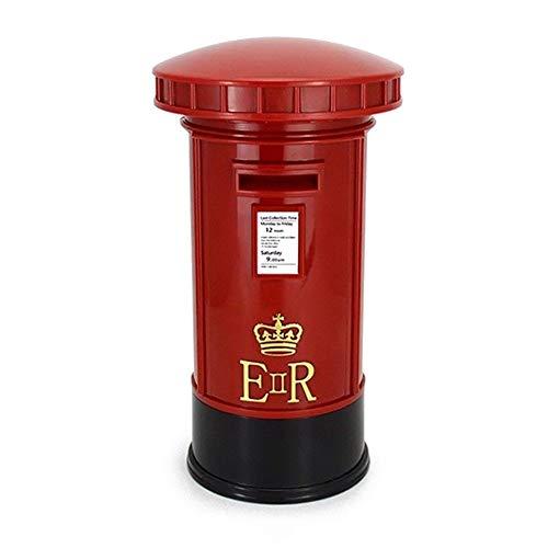 n! Retro Uk Mailbox Shape Piggy Bank With Led Night Light Lighting Table Lamp Money Boxes Piggy Bank ()
