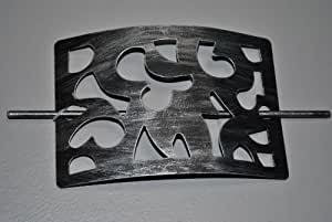 gardinen raffhalter 6721514 rechteckig metall schwarz silber k che haushalt. Black Bedroom Furniture Sets. Home Design Ideas