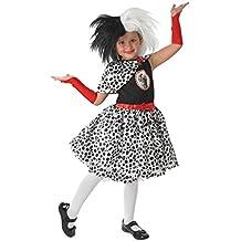 Cruella De Ville - 101 Dálmatas - Disney - Niños Disfraz - Large - 128cm