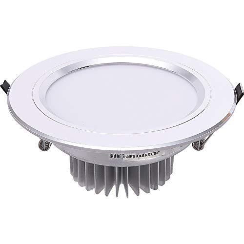 Koliyn Parrilla de Aluminio Plateada Foco empotrable Lámparas de Techo LED Creativas...
