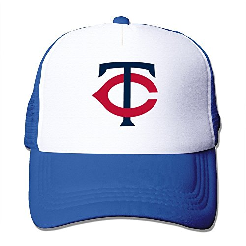 Huseki Minnesota Twins Alternate Logo Adjustable Grid Baseball Cap Hat Royalblue