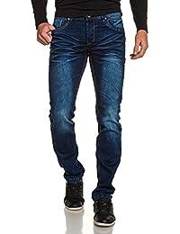BLZ jeans - Jeans bleu homme droit délavé