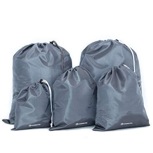 Goodington Packbeutel-Set 5-teilig, Organizer Beutel für Koffer, Rucksack und Reisetasche | Reisebeutel Set als Schuhbeutel oder Wäschebeutel