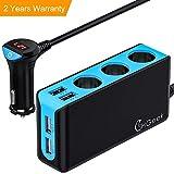 CHGeek Auto Ladegerät, 120W 12V/24V USB KFZ Ladegerät 6.8A 4 USB Ports Multi-Funktion Power Auto Adapter mit...