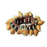 TOPmountain Gioielli di Tamburi africani Mano - Unico Nutshells africani Crackle Bracciale Elastico Perline Catena Mano Decor