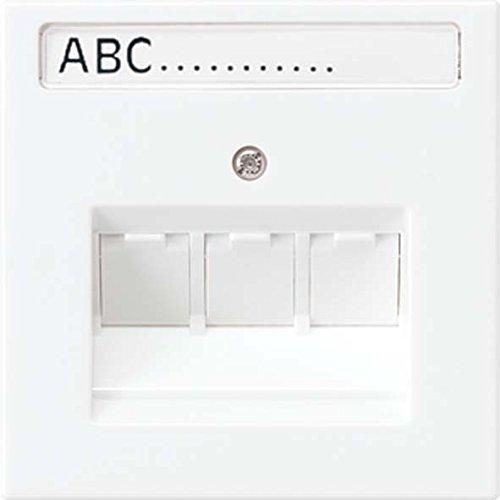 Platte Abdeckung Drei Schalter (Jung LS990–Platte Adapter/An 3Steckdose Universal-Informatica weiß alpin)