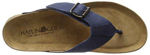 Haflinger Bio Rio Unisex-Erwachsene Zehentrenner Blau (Blau 777)