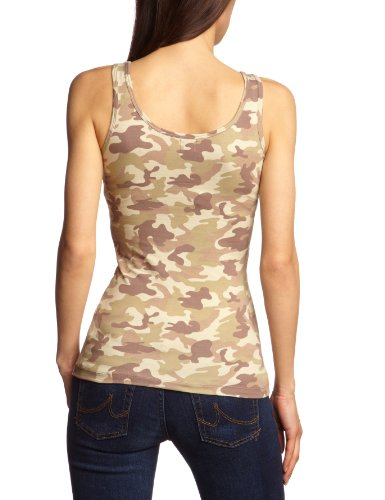 ONLY Damen Top 15075374/Live Love Short Tank Top Printed NOOS Grau (OYSTER GREY), Comb 3