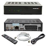 PremiumX HD 1100 Combo Digital FullHD Receiver für Sat und Kabelfernsehen DVB-S2 / C HDMI SCART USB + HDMI Kabel