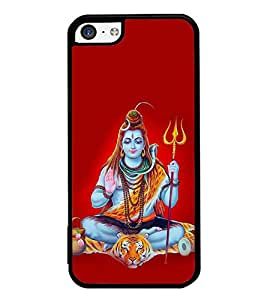 PrintVisa Designer Back Case Cover for Apple iPhone 5c (Lord Shiva Trisul and Damuru Spiritual)