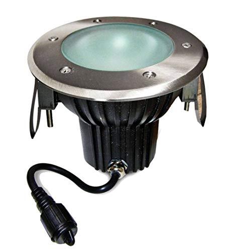 Spot encastrable carré Inox Special Terrase Plancher Bois GU10 MR30 IP67 extérieur EASY CONNECT ampoule fournie
