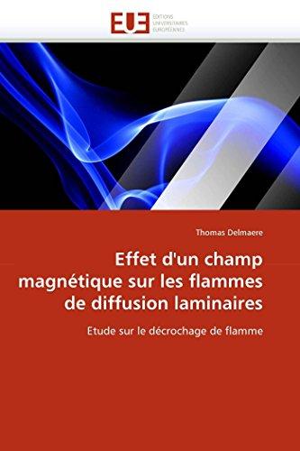 Effet d''un champ magnétique sur les flammes de diffusion laminaires