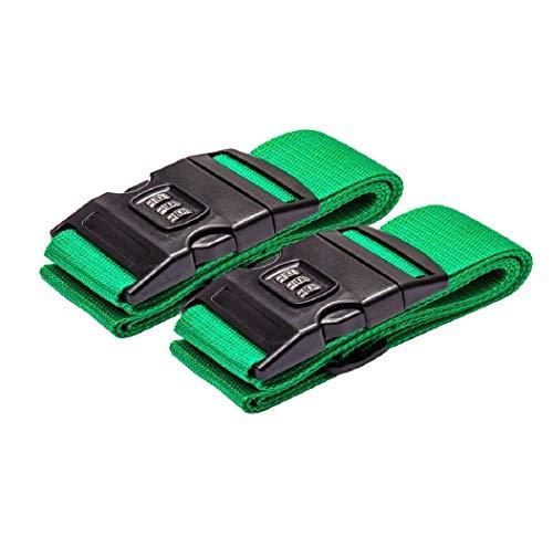 DoGeek Koffergurt Kofferband 200 * 5CM Regenbogen Gepäckgurt der Koffer Gurte Identifikation Riemen Reisezubehör-2pcs