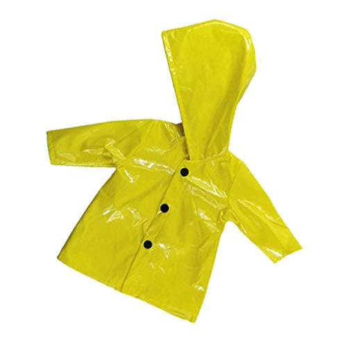 CUTICATE Puppenkleidung Regenmantel mit Kapuze Regenkleidung Outfit für 18 Zoll Amerikanische Puppen