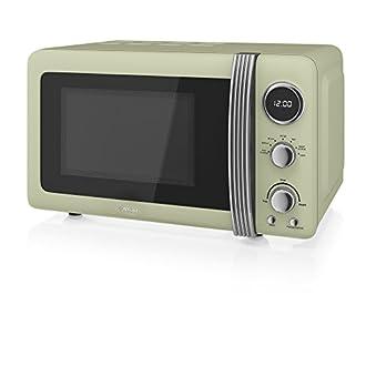 Swan 800w Retro Digital Microwave - Green