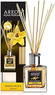 AREON Home Perfume Reed Diffuser 150 ml 10 Rattan Reeds - Vanilla Black