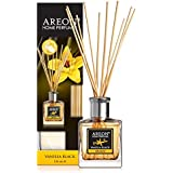 معطر هواء طبيعي برائحة تدوم طويلًا للإستخدام في المكتب أو المنزل - عطر سائل في زجاجة - بعد وضعه في العطر تتشرب العصي الخشبية