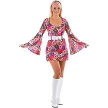 Disfraz hippie mujer vestido