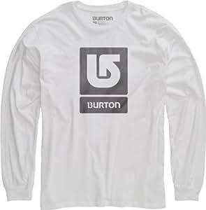 Burton Herren Langarmshirt Logo Vertical Longsleeve, Stout White, 56/58, 11211100101