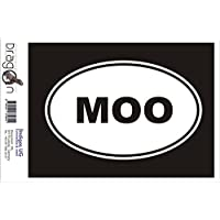 INDIGOS UG Sticker/Bumper/JDM/Die cut - MOO Sticker Cow Farm Animal Love Funny 180x120mm