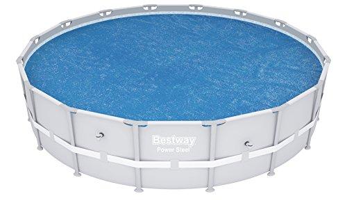 Bestway 58253 - Cobertor Solar para piscinas Steel Pro, Power Steel, Hydrium, Cubierta de diámetro 488 cm