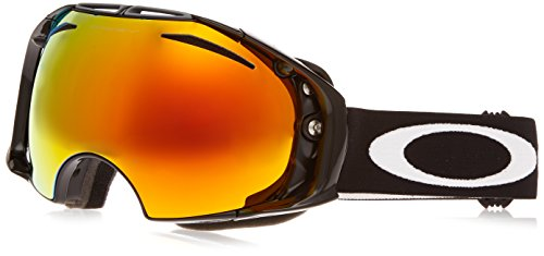 Oakley Skibrille Airbrake jet black/fire iridium/persimmon, One Size