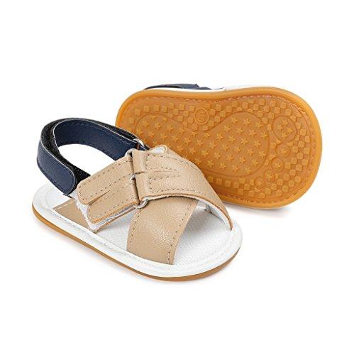 Baby Schuhe Auxma Baby Jungen Mädchen Mode Schuhe First Walking Schuhe Sandalen für 3-18 Monate (3-6 M, Blau) Khaki
