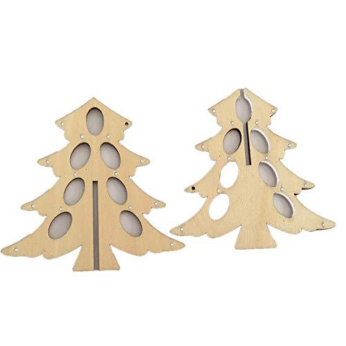 Linerow decorazioni natalizie alberi di natale artificiali 10 trucioli di legno ecologici modelli creativi 10 * 9,8 cm, 2