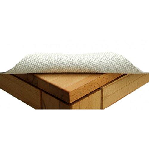 TextilDepot24 Tisch Table Polster rutschtfest Largeur 85 cm Longueur au Choix Couleur Blanc 85 x 160 Weiß
